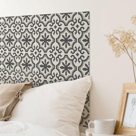 Detalle cabecero de cama de vinilo Rabat