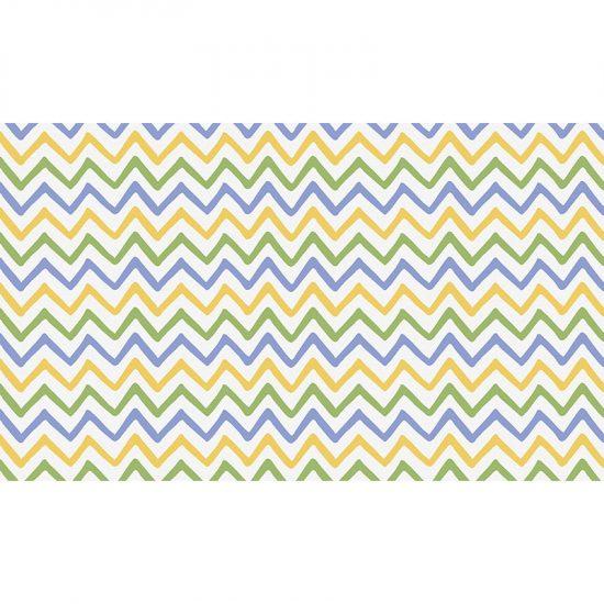 Cabecero de cama de vinilo Infantil Zig Zag Colores 135x80