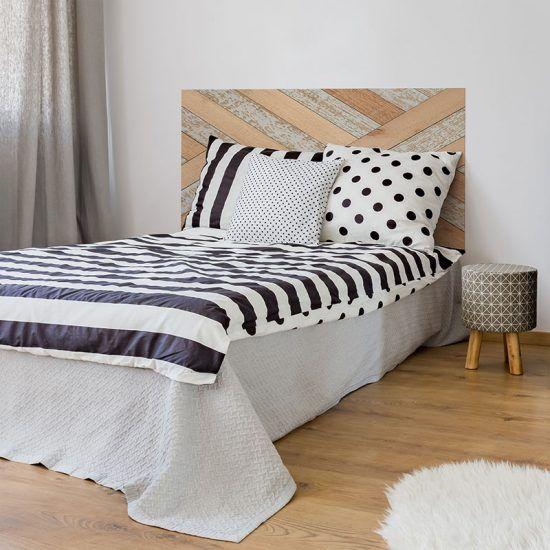 Dormitorio cabecero de cama Parket 135 x 80 cm