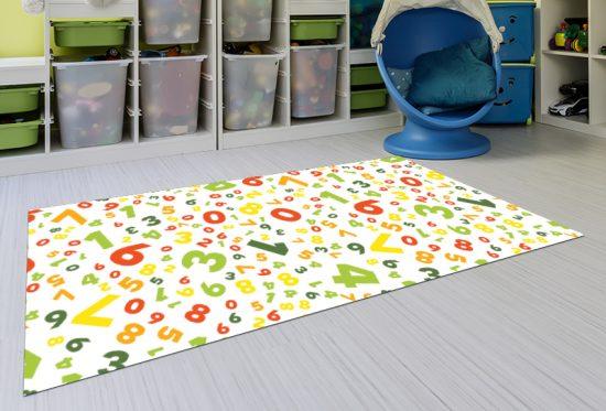 alfombra vinílica infantil Crazy Numbers Outlet 143x97