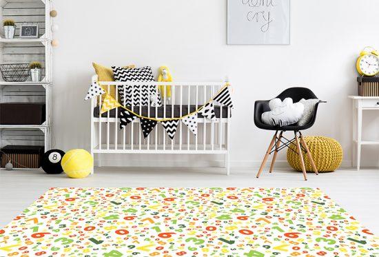 alfombra vinílica infantil Crazy Numbers Outlet detalle habitación