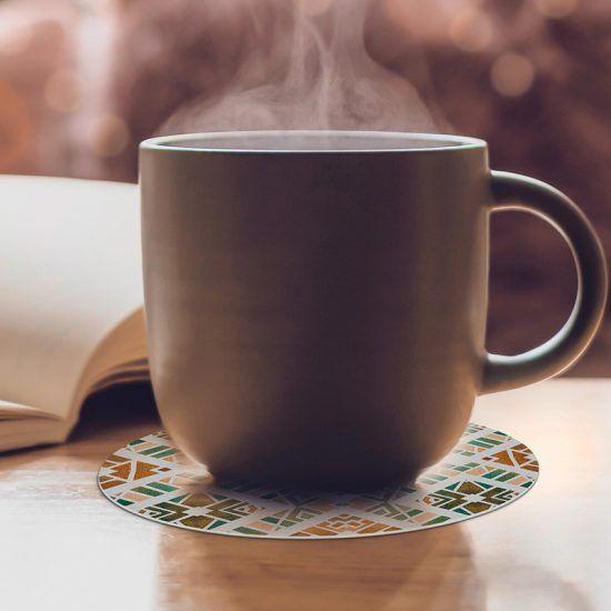 Posavasos redondos Polly café