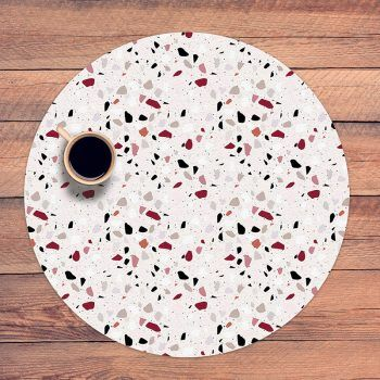 Mantel redondo Pink Mosaic