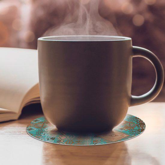 Posavasos redondos Crai café
