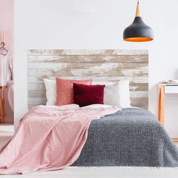 Cabecero de cama de vinilo Zamby cama de matrimonio