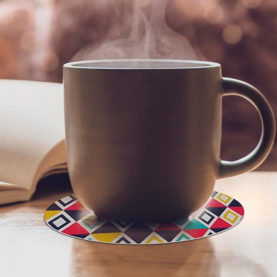 Posavasos redondos Enney café