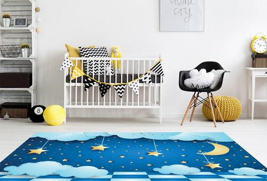 alfombra vinílica infantil Aeroespacial Outlet detalle habitación