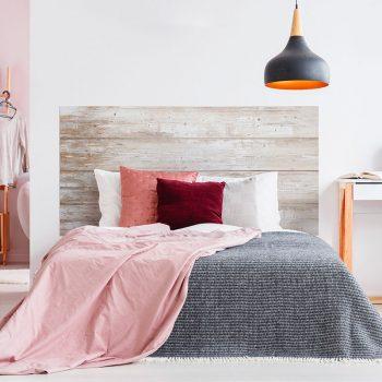 Cabecero de cama de vinilo Merin cama de matrimonio