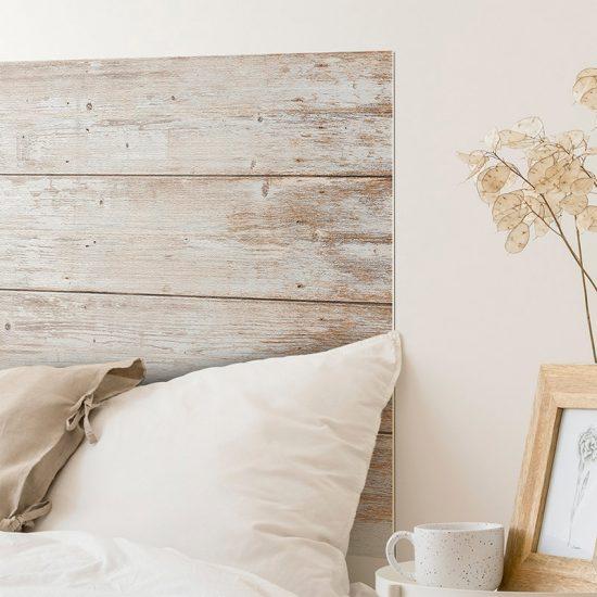 Detalle cabecero de cama de vinilo Merin