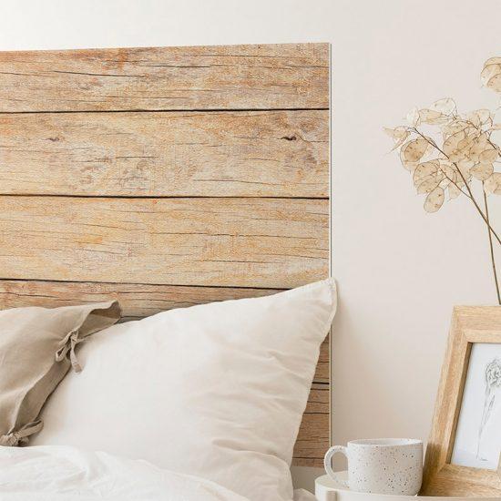 Detalle cabecero de cama de vinilo Oka