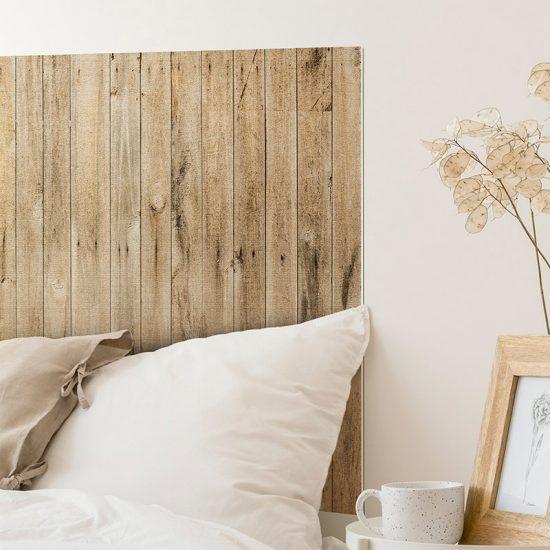 Detalle cabecero de cama de vinilo Steil