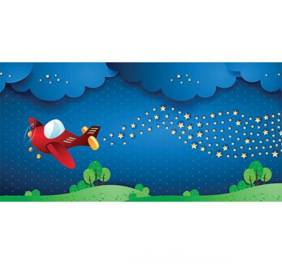 alfombra vinílica infantil Aeroespacial Outlet 97x48