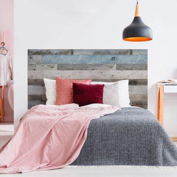 Cabecero de cama de vinilo Flyn cama de matrimonio