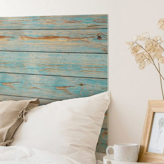 Detalle cabecero de cama de vinilo Longue