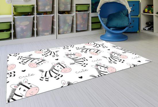 alfombra vinílica infantil Cebras Outlet detalle playroom