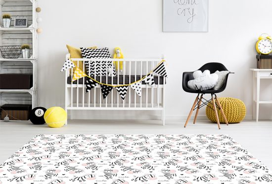 alfombra vinílica infantil Cebras Outlet detalle habitación