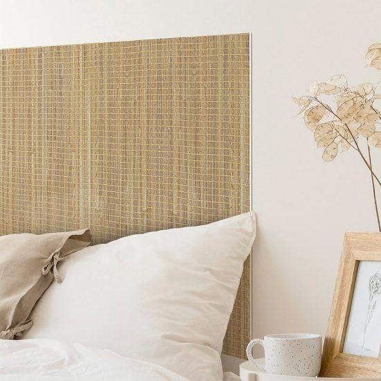 Detalle cabecero de cama de vinilo Bambú Cuadrado