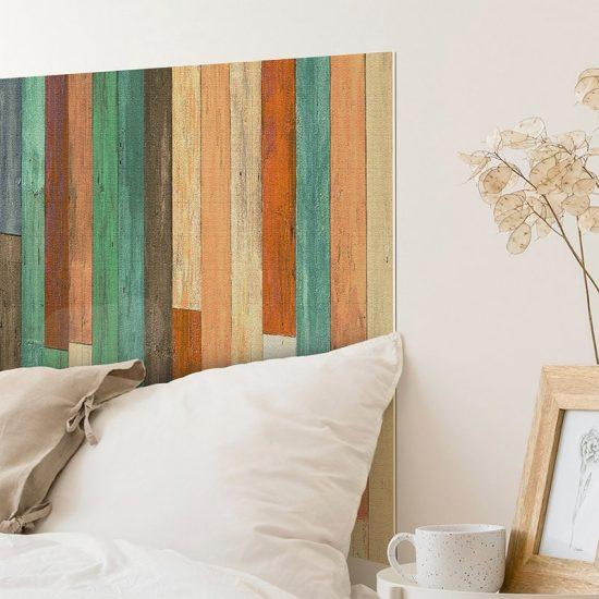 Detalle cabecero de cama de vinilo Summer Wood