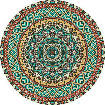 alfombra vinílica redonda Barrey 60x60