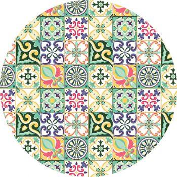 alfombra vinílica redonda Viseu 60x60