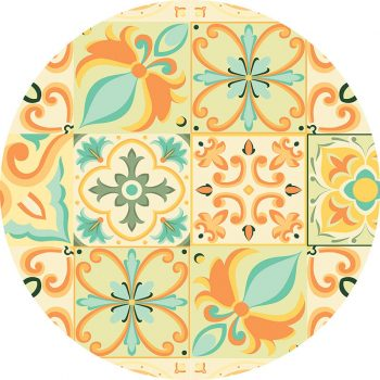alfombra vinílica redonda Milley 60x60