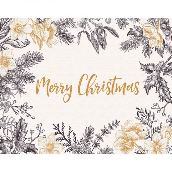 manteles individuales Merry Christmas