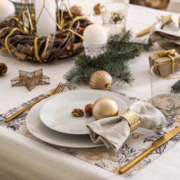 pack manteles y posavasos Merry Christmas detalle mesa