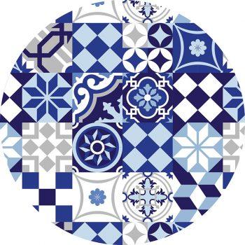 alfombra vinílica redonda Bluely 60x60