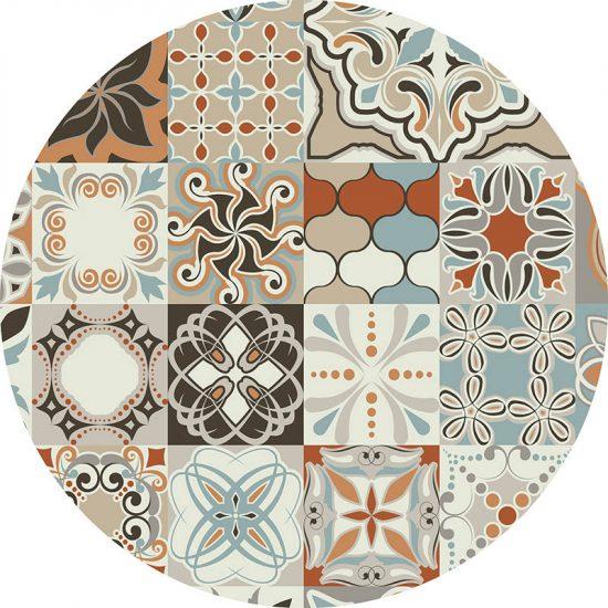 alfombra vinílica redonda Loures 60x60