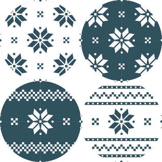 posavasos copos de nieve
