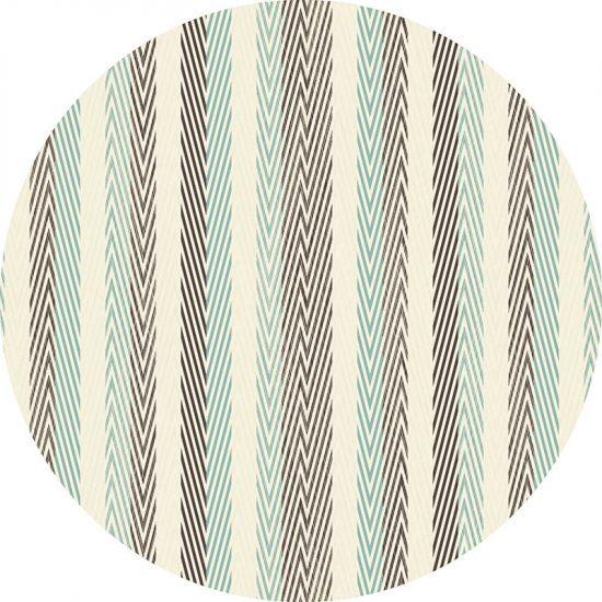 alfombra vinílica redonda Rayado 60x60