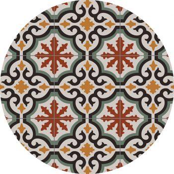 alfombra vinílica redonda Mystic 60x60