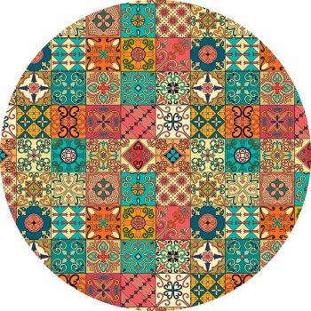 alfombra vinílica redonda Holley 60x60