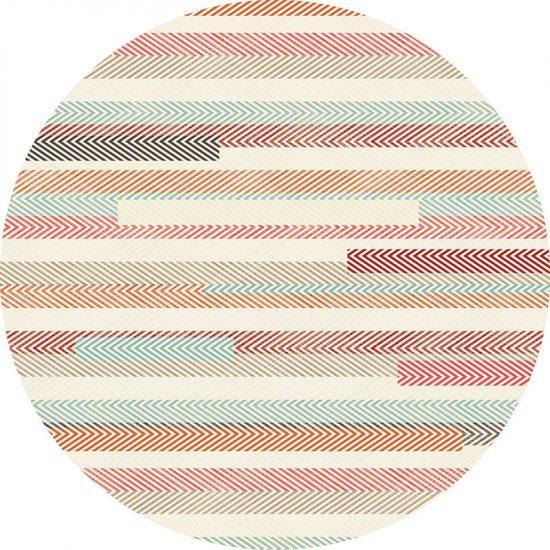 alfombra vinílica redonda Rayado Colours 60x60