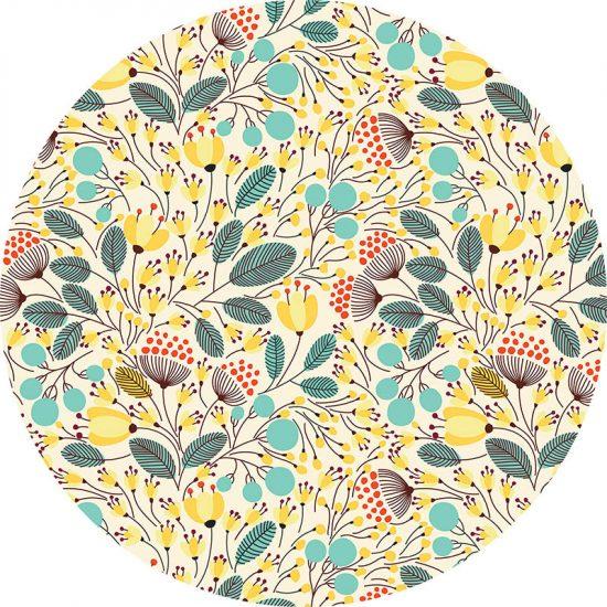 alfombra vinílica redonda Florence 60x60