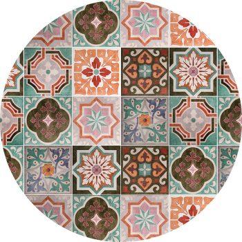 alfombra vinílica redonda Liliana 60x60