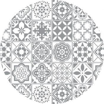 alfombra vinílica redonda Tina 60x60