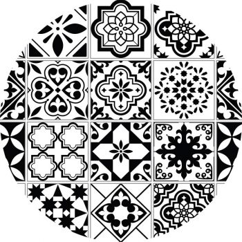 alfombra vinílica redonda Lossa 60x60