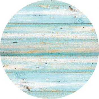 alfombra vinílica redonda Turquesa vibrante 60x60