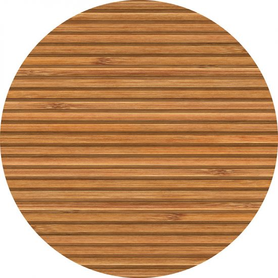 alfombra vinílica redonda Madera 60x60