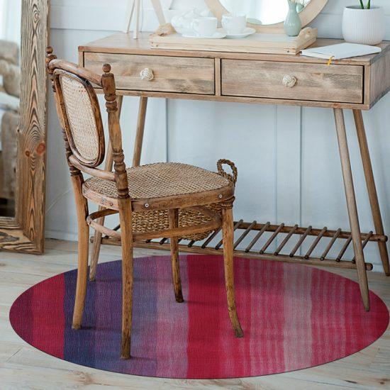 alfombra vinílica redonda Tuca detalle tocador