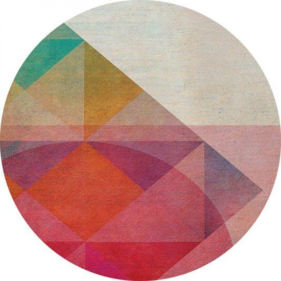 alfombra vinílica redonda Metrics 60x60 cm