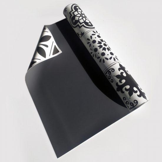 Alfombra vinílica exterior detalle material