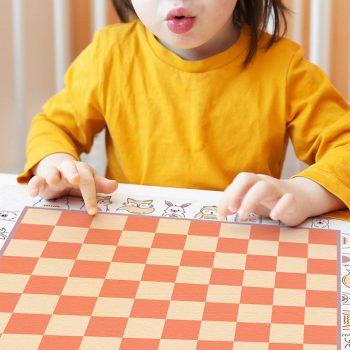 Alfombra didáctica infantil Damas Happy Animals-48x48 cm