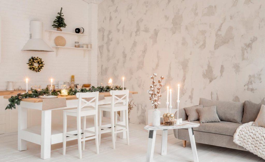 Decoración Navidad manteles y caminos de mesa vinílicos