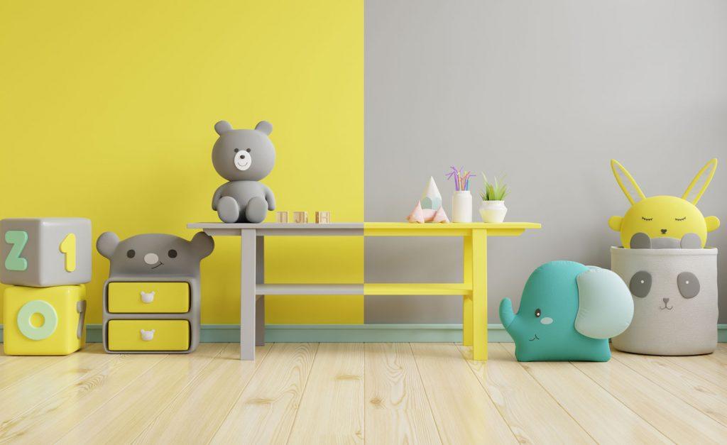 Decoración infantil colores Pantone 2021
