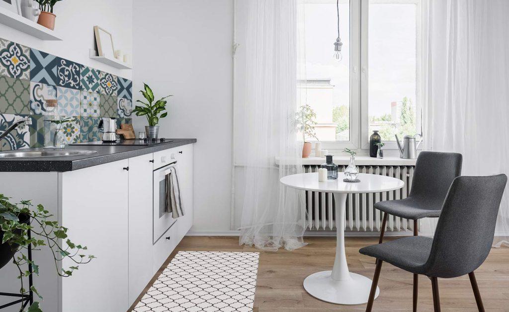 Alfombras vinílicas y vinilos para cubrir azulejos cocina