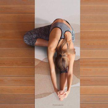 Yoga mat acuarela brown clase de yoga