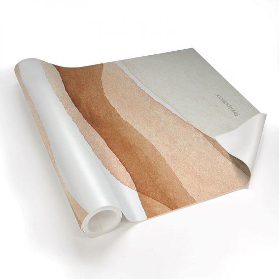 Yoga mat acuarela brown detalle material