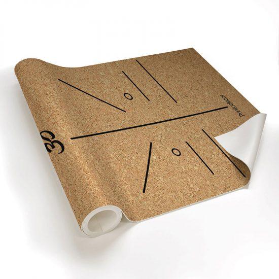 Yoga mat corcho position om detalle material